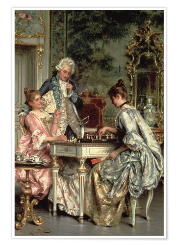 Premium poster The Game of Chess