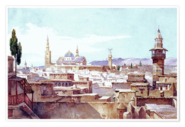 Premium poster  A view of Damascus - Charles Pierron