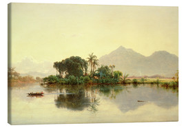 Canvas print  On the Orinoco, Venezuela, 1857 - Louis Remy Mignot