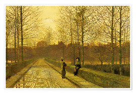 Premium poster  In the Golden Gloaming, 1883 - John Atkinson Grimshaw