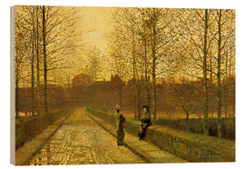 Wood print  In the Golden Gloaming, 1883 - John Atkinson Grimshaw