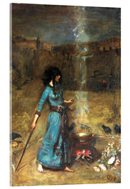 Acrylic print  The magic circle - John William Waterhouse