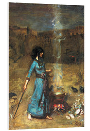 Foam board print  The magic circle - John William Waterhouse
