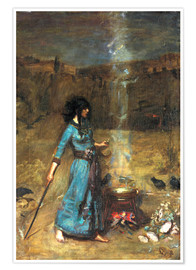 Premium poster  The magic circle - John William Waterhouse