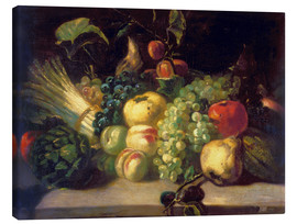 Canvas print  Still life with fruits and vegetables - Theodore Gericault