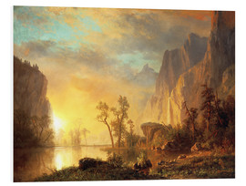 Foam board print  Sunset in the Rockies - Albert Bierstadt