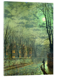Acrylic glass  Going Home by Moonlight - John Atkinson Grimshaw