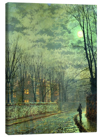 Canvas print  Going Home by Moonlight - John Atkinson Grimshaw