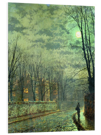 Foam board print  Going Home by Moonlight - John Atkinson Grimshaw