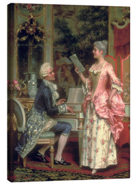 Canvas print  The Singing Lesson - Arturo Ricci