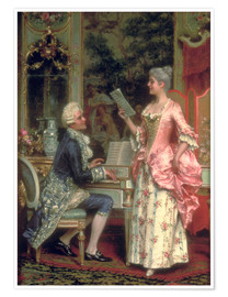 Premium poster  The Singing Lesson - Arturo Ricci