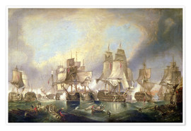 Premium poster Battle of Trafalgar