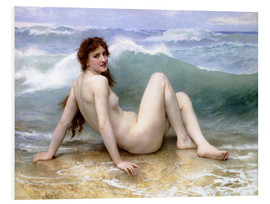 Foam board print  The Wave - William Adolphe Bouguereau