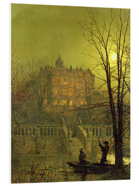 Foam board print  Under the Moonbeams, 1882 - John Atkinson Grimshaw