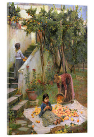 Acrylic print  The Orange collectors - John William Waterhouse