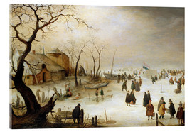 Hendrick Avercamp - A winter landscape with figures on the ice
