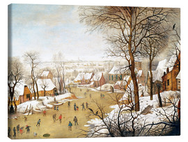 Canvas print  A Winter Landscape with Skaters and a Bird Trap - Pieter Brueghel d.J.