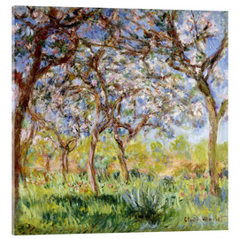 Acrylic glass  Spring at Giverny - Claude Monet