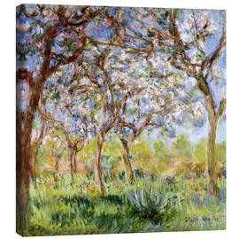 Canvas  Spring at Giverny - Claude Monet