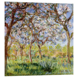 Foam board print  Spring at Giverny - Claude Monet