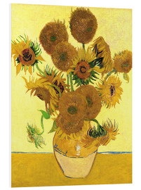 Foam board print  Sunflowers - Vincent van Gogh