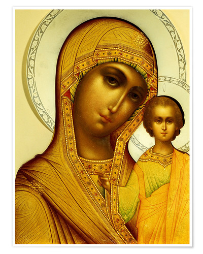 Premium poster Icon of the Virgin Kazanskaya, Moscow, 1908-17