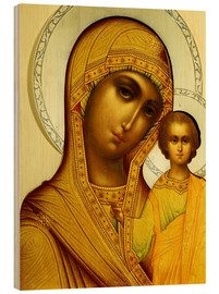 Wood print  Icon of the Virgin Kazanskaya, Moscow, 1908-17 - Dmitrii Smirnov