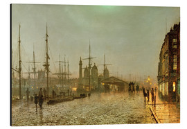Aluminium print  Hull Docks by Night - John Atkinson Grimshaw