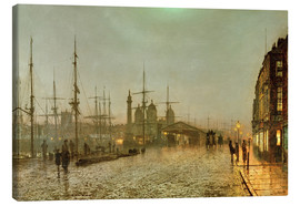 Canvas print  Hull Docks by Night - John Atkinson Grimshaw