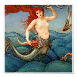 Premium poster  Sea Nymph - Edward Burne-Jones