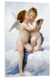 Foam board print  The first kiss - William Adolphe Bouguereau