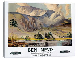 Canvas print  Ben Nevis, British Railways - Scottish School