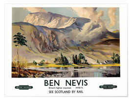 Premium poster  Ben Nevis, British Railways - Scottish School