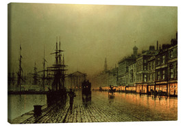 Canvas print  Greenock Dock by Moonlight - John Atkinson Grimshaw