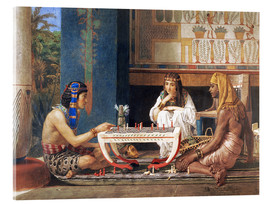 Acrylic print  Egyptian Chess Players - Lawrence Alma-Tadema
