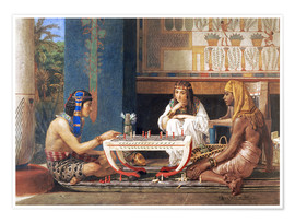 Premium poster Egyptian Chess Players