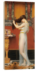 Wood print  The Toilet - John William Godward