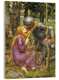 Wood print  A study for La Belle Dame sans Merci - John William Waterhouse