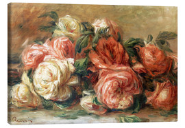 Canvas  Discarded Roses - Pierre-Auguste Renoir