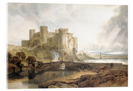 Acrylic print  Conway Castle, c.1802 - Joseph Mallord William Turner