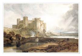Premium poster  Conway Castle, c.1802 - Joseph Mallord William Turner