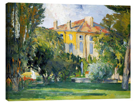Canvas print  The House at Jas de Bouffan - Paul Cézanne