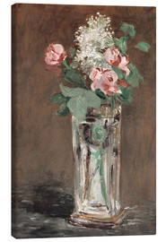 Canvas  Flowers in a Crystal Vase - Edouard Manet