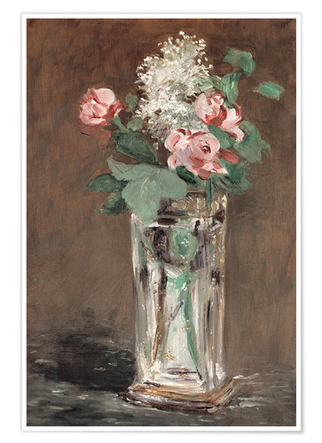 Premium poster Flowers in a Crystal Vase