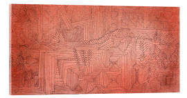 Acrylic glass  Cliff Temples with Firs - Paul Klee