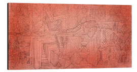 Aluminium print  Cliff Temples with Firs - Paul Klee