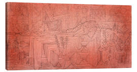 Canvas  Cliff Temples with Firs - Paul Klee