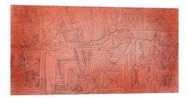 Foam board print  Cliff Temples with Firs - Paul Klee