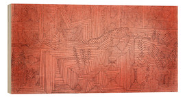 Wood print  Cliff Temples with Firs - Paul Klee