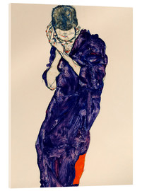 Acrylic print  Youth with violet frock - Egon Schiele